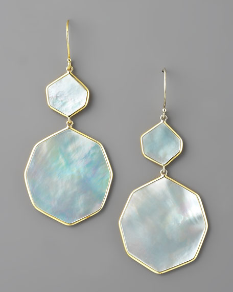 Irregular-Drop Mother-of-Pearl Earrings