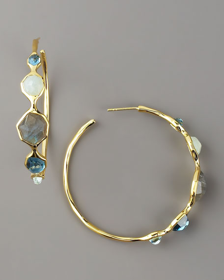 Five-Station Starry Hoop Earrings