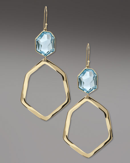 Geometric Drop Earrings, Topaz