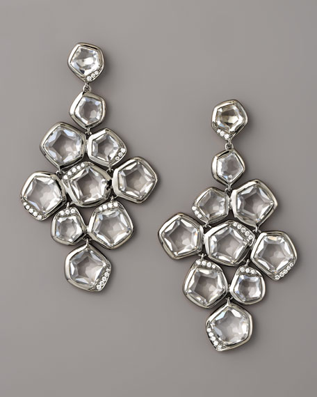 Quartz & Diamond Cascade Earrings