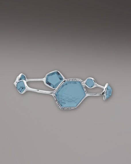 London Blue Topaz & Diamond Bangle