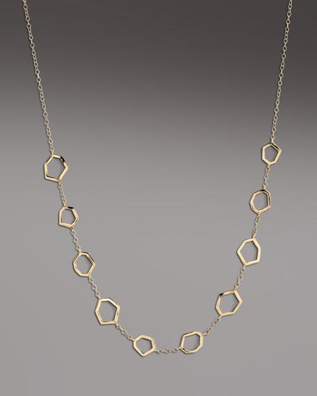 Gold Frame-Station Necklace