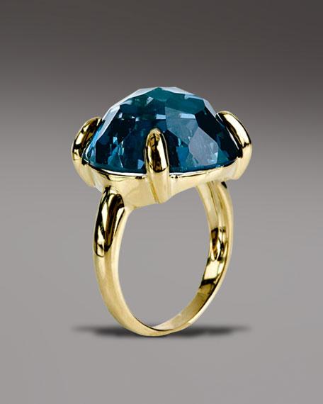 London Blue Topaz Lollipop Ring