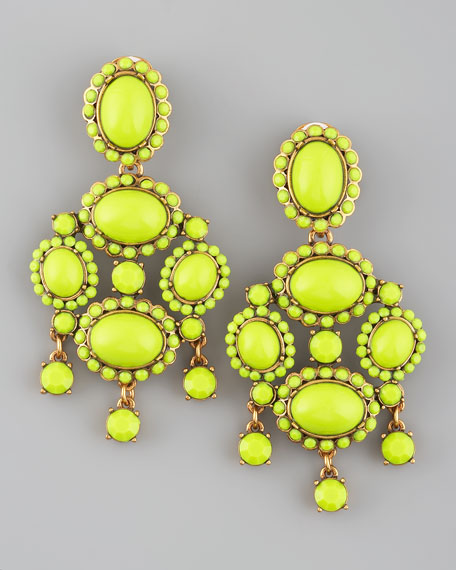 Chartreuse Resin Earrings