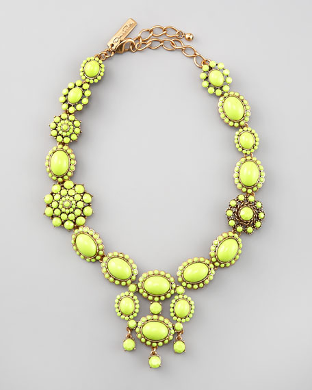 Chartreuse Resin Necklace