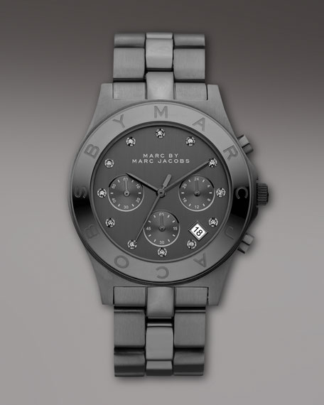 Blade Gunmetal Chrome Watch