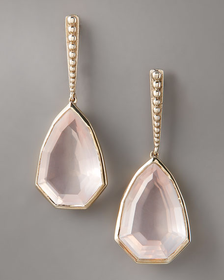 Freeform Rose Quartz Earrings
