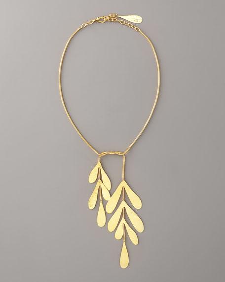 """Coral Tie Necklace, 18""""L"""