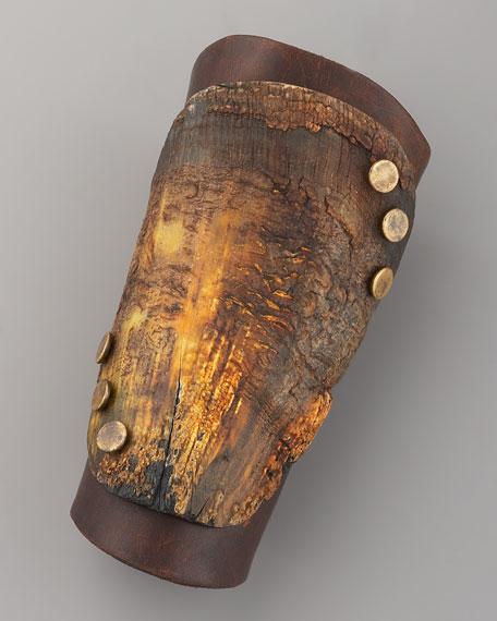 Wood & Leather Cuff