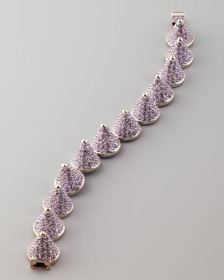 Pave Cone Bracelet, Lavender