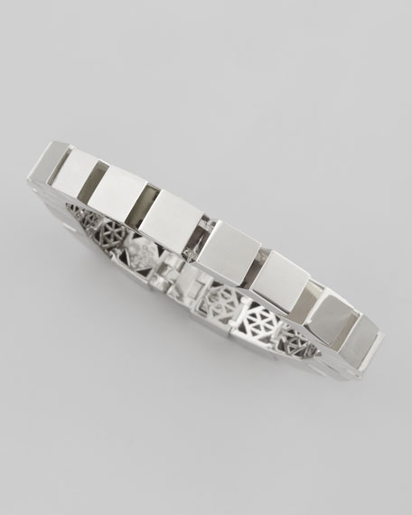 Small Cube Bracelet, Silver
