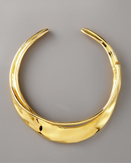 Gold Orbiting Collar Necklace