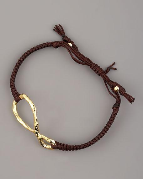 Hammered Gold Infinity Bracelet
