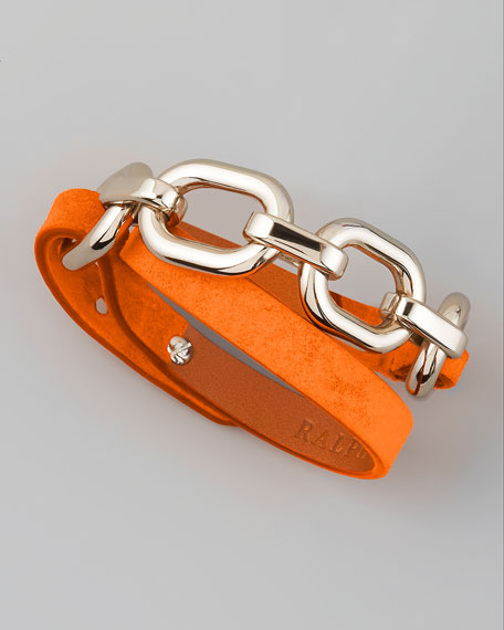 Suede Wrap Bracelet, Orange