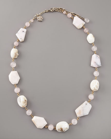 White Rose Quartz Necklace