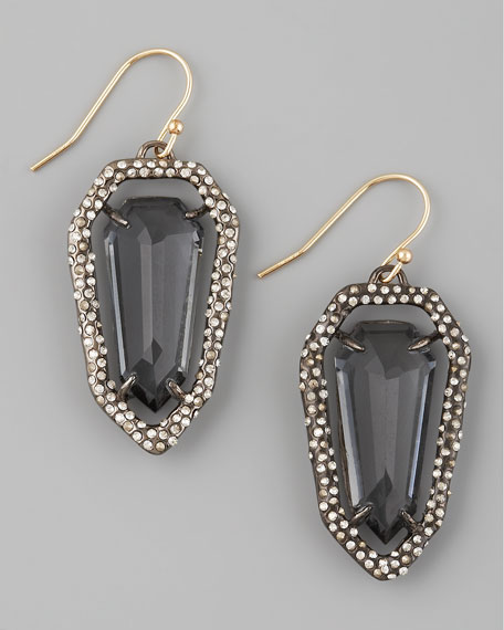 Pave Rhodium Earrings