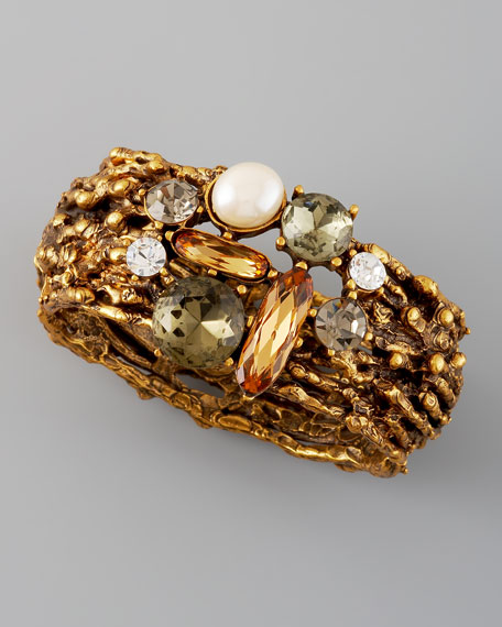 Pearl-Detailed Branch Cuff