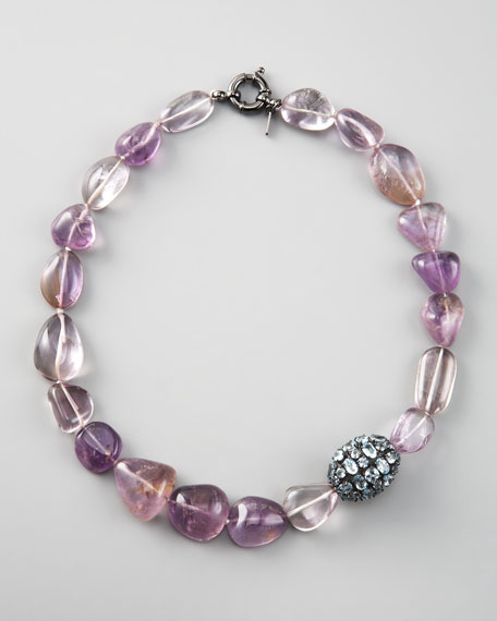 Topaz & Amethyst Beaded Necklace