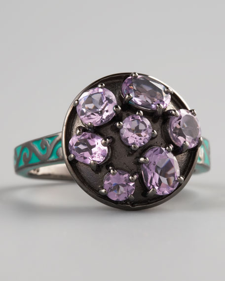Multi-Cut Amethyst Ring