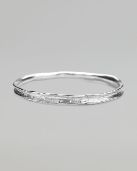 Sterling Silver Sugarcane Bangle, Large