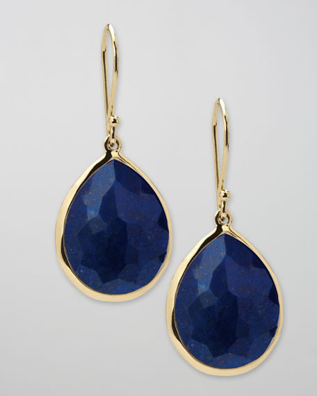 Lapis Teardrop Earrings, Medium