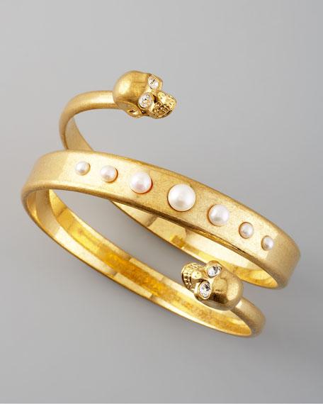 Spiral Skull Bracelet