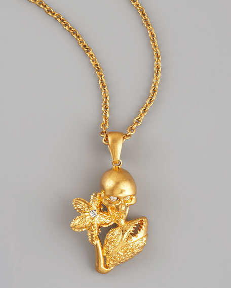 Skull, Starfish, & Claw Pendant Necklace
