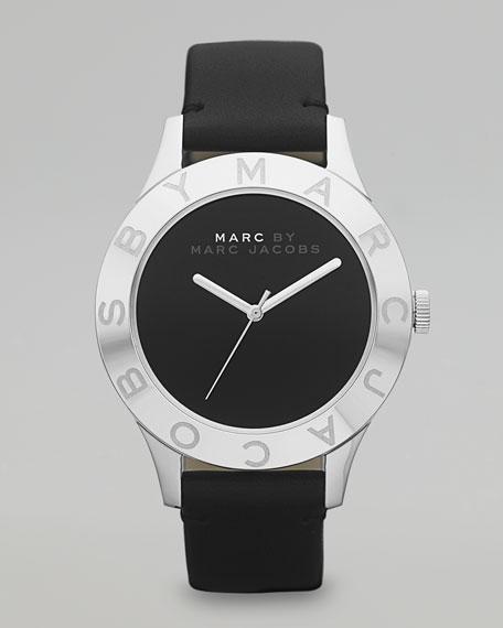 Stainless Steel Blade Watch, Black