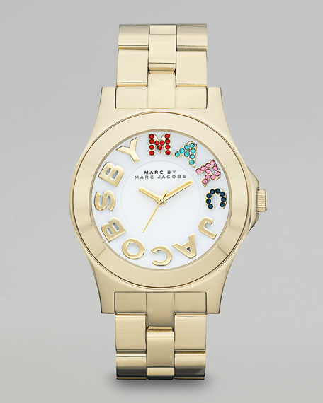 Pave MARC Rivera Watch, Golden