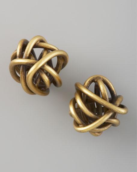 Twisted Brass Earrings