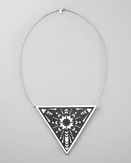 Triangle Pendant Necklace, Large