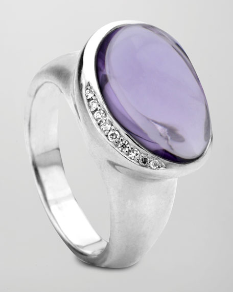 Scultura Pebble Ring, Dark Amethyst