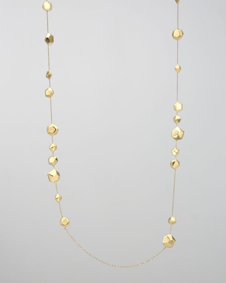 Glamazon Gold-Station Necklace, 38""