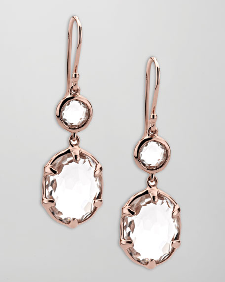 Rose Gold Double-Drop Earrings