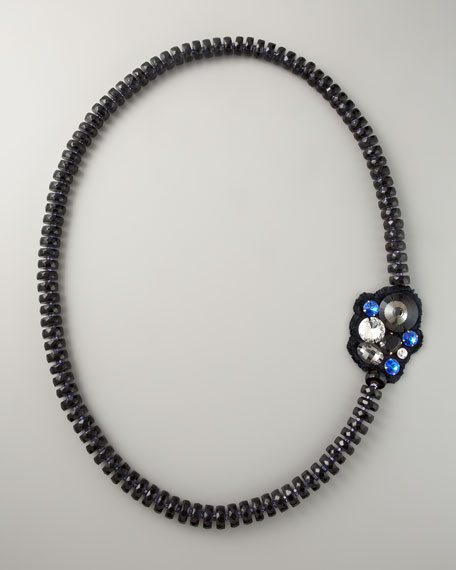 "Faceted Bead Necklace, 60""L"