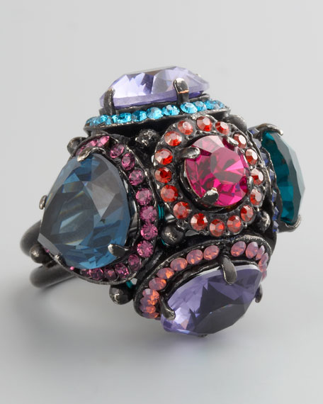 Multicolor Rhinestone Ring