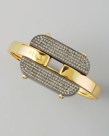 Crystal-Buckle Bracelet