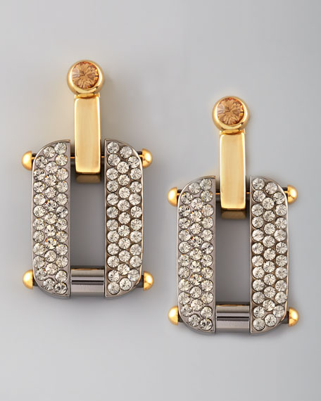 Pave Link Earrings