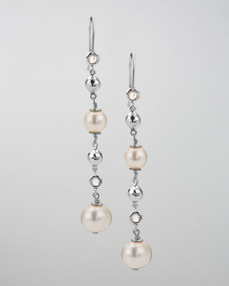 Pearl & Quartz Rain Drop Earrings