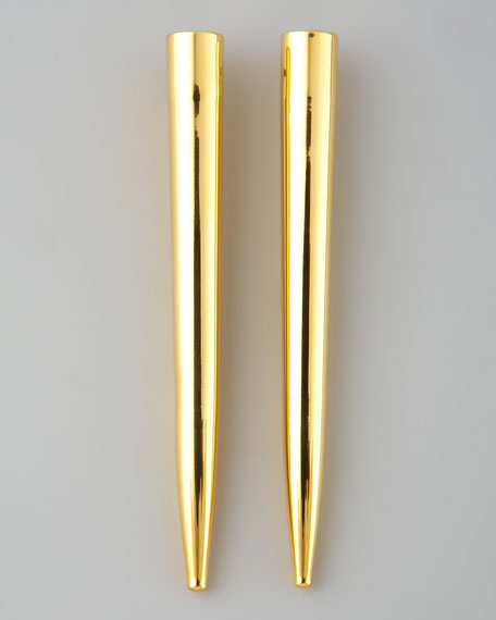 Spike Earrings, Yellow Gold