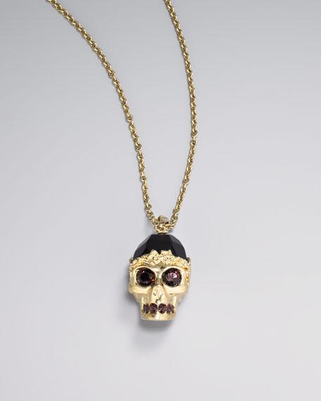 Golden Skull Pendant Necklace