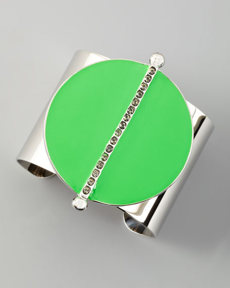 Neon Semicircle Cuff, Lime