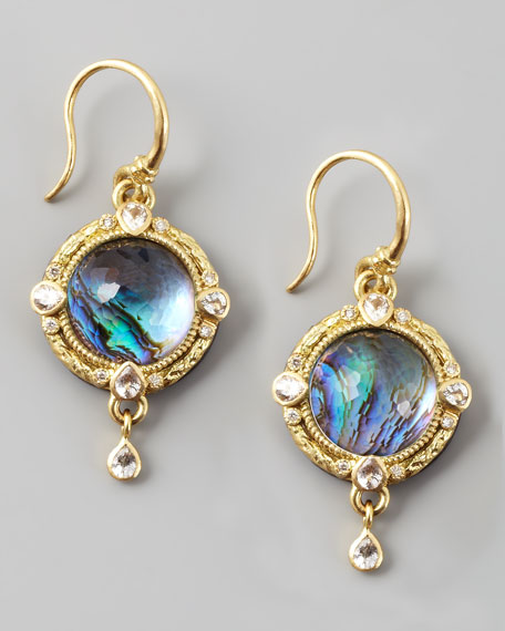 Midnight Round Earrings