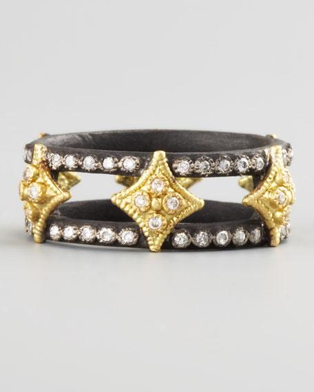 Double-Band Diamond Ring