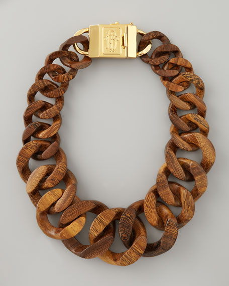 42d01a785e4 Tory Burch Graduated Wooden Chain Necklace