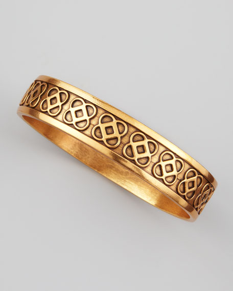 Petal Mosiaco Logo Bangle, Golden