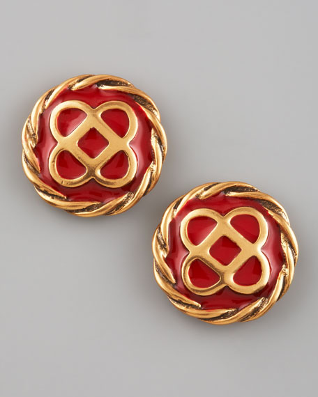 Mosaico Stud Earrings, Ruby