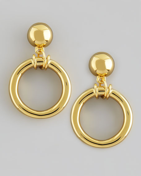 Doorknocker Earrings, Golden