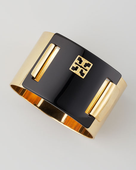 Enamel-Panel Cuff, Black