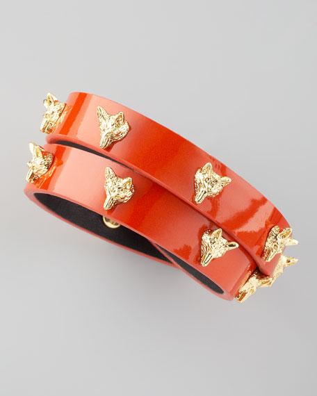 Fox-Studded Wrap Bracelet, Wildberry
